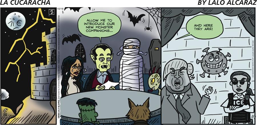 La Cucaracha Comic Strip for October 18, 2020