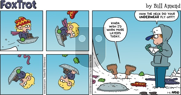 FoxTrot - Sunday January 6, 2019 Comic Strip