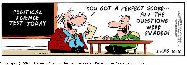 Frank and Ernest Comic Strip for October 10, 2001