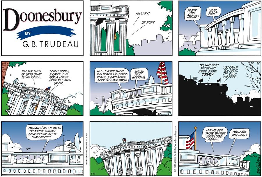 Doonesbury Comic Strip for July 12, 1998