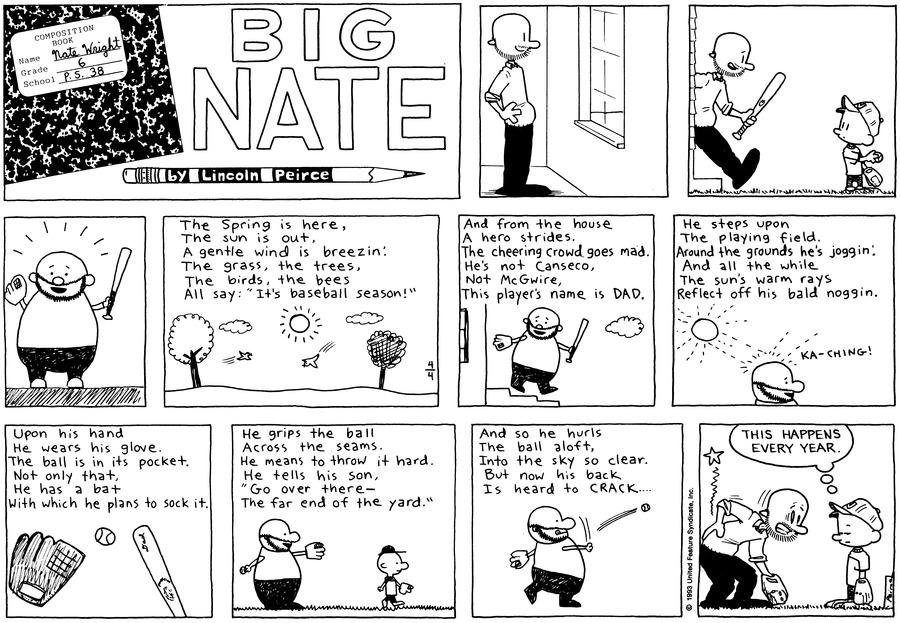 Big Nate Comic Strip for April 04, 1993