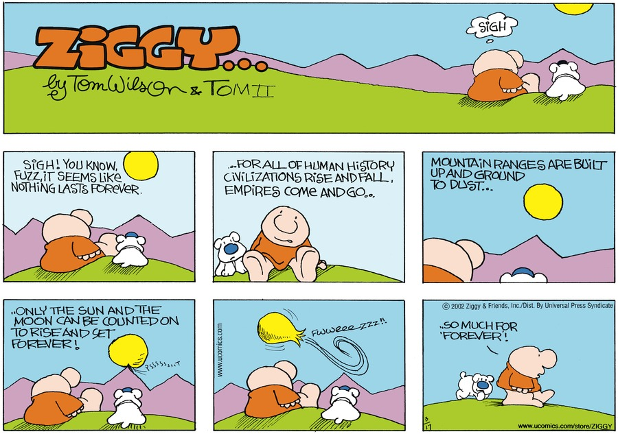 Ziggy for Mar 17, 2002 Comic Strip