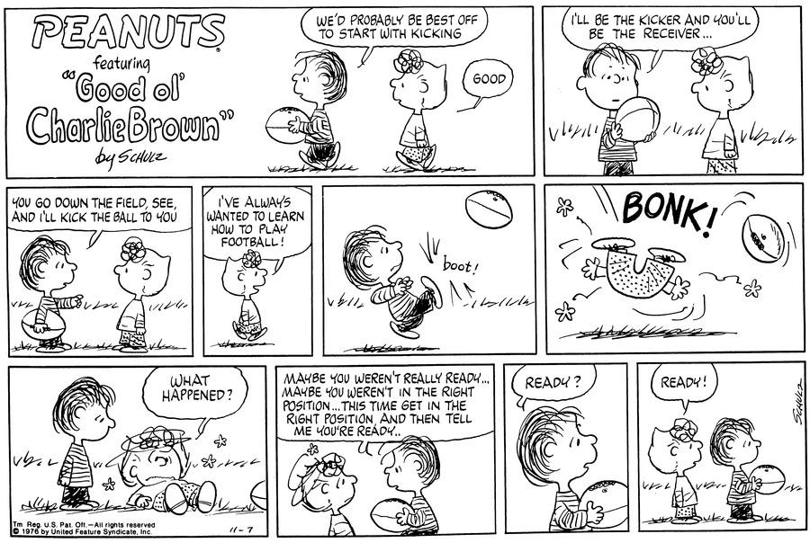 Peanuts Comic Strip for November 07, 1976