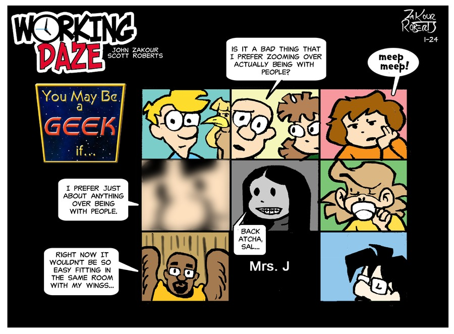 Working Daze Comic Strip for January 24, 2021