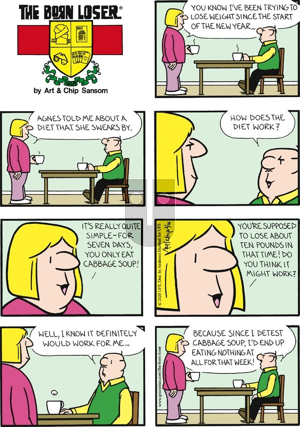 The Born Loser on Sunday February 16, 2020 Comic Strip