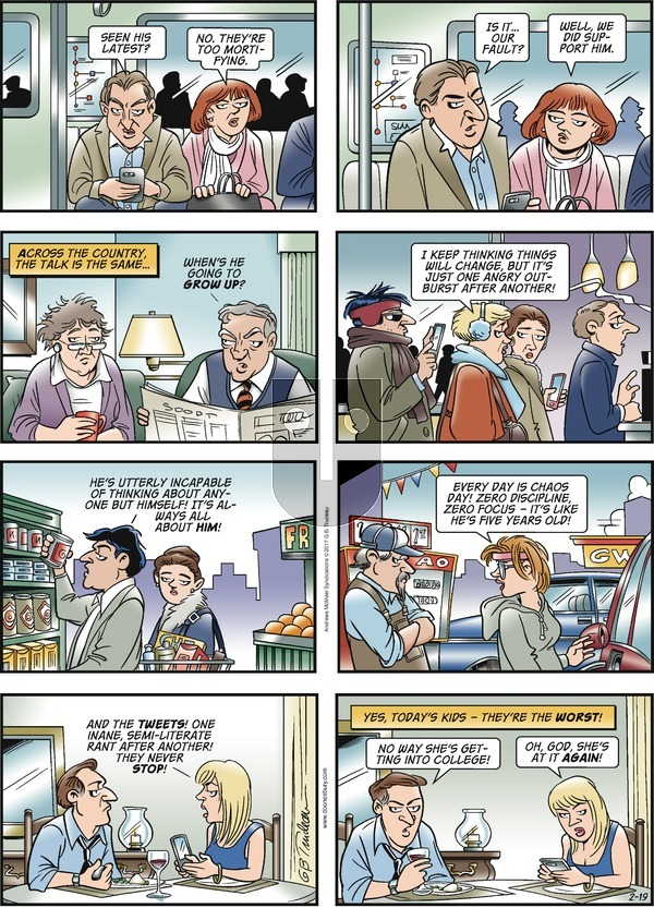 Doonesbury on Sunday February 19, 2017 Comic Strip
