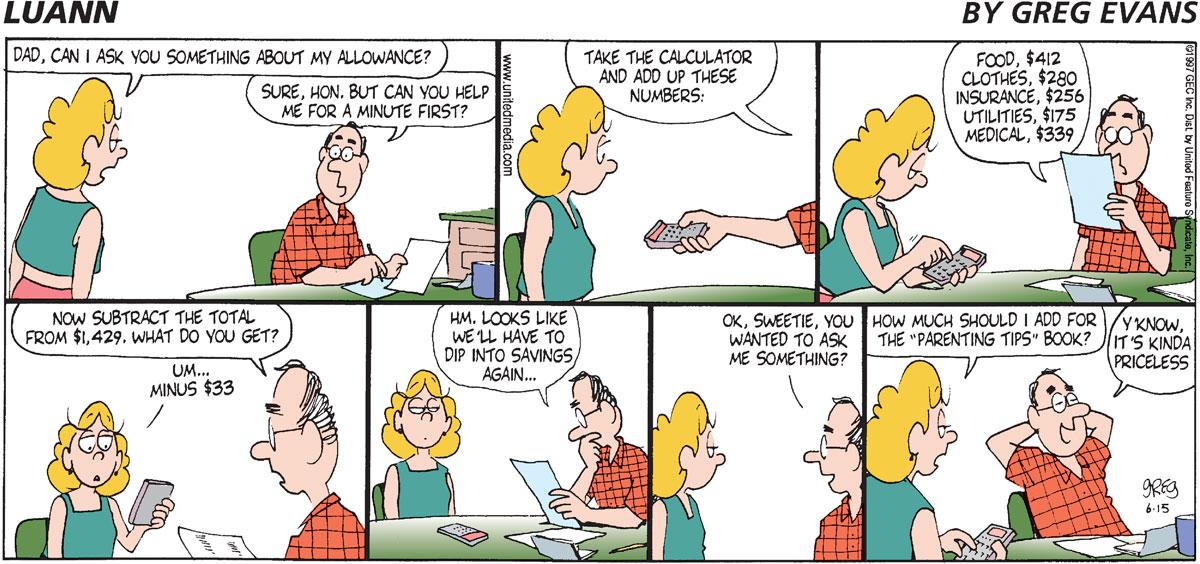 Luann for Jun 15, 1997 Comic Strip