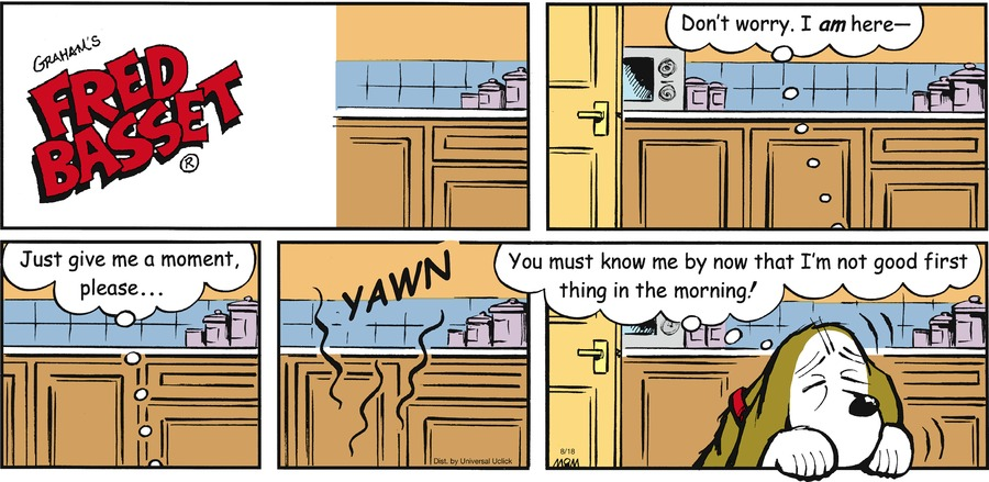 Fred Basset Comic Strip for August 18, 2013