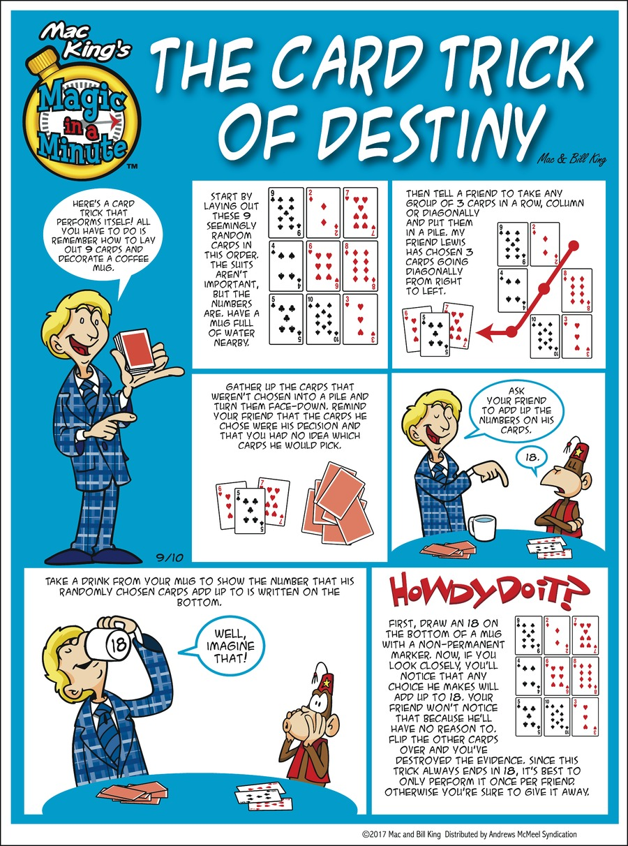 Magic in a Minute Comic Strip for September 10, 2017