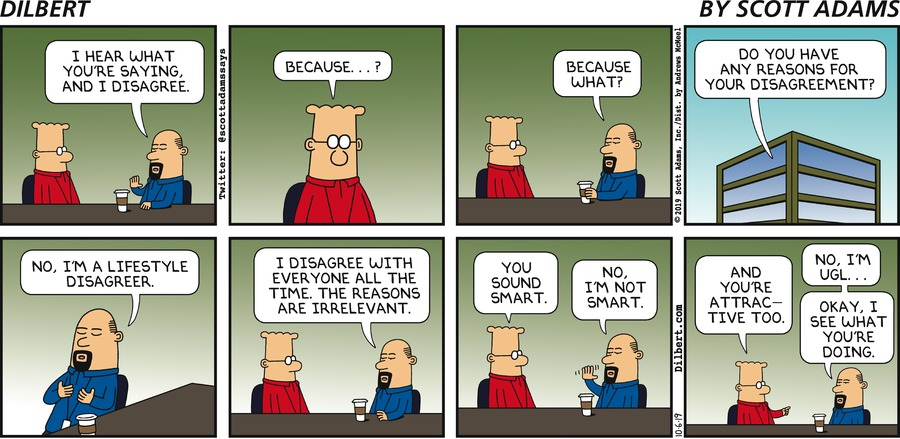 Lifestyle Disagreer - Dilbert by Scott Adams