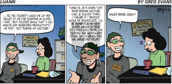 Luann on Sunday May 5, 2013 Comic Strip