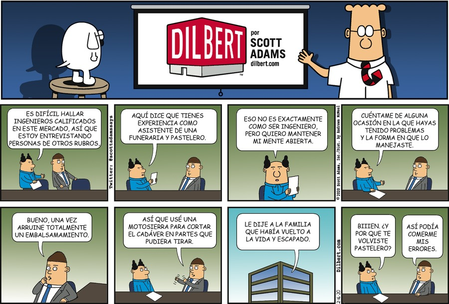 Dilbert en Español Comic Strip for February 16, 2020