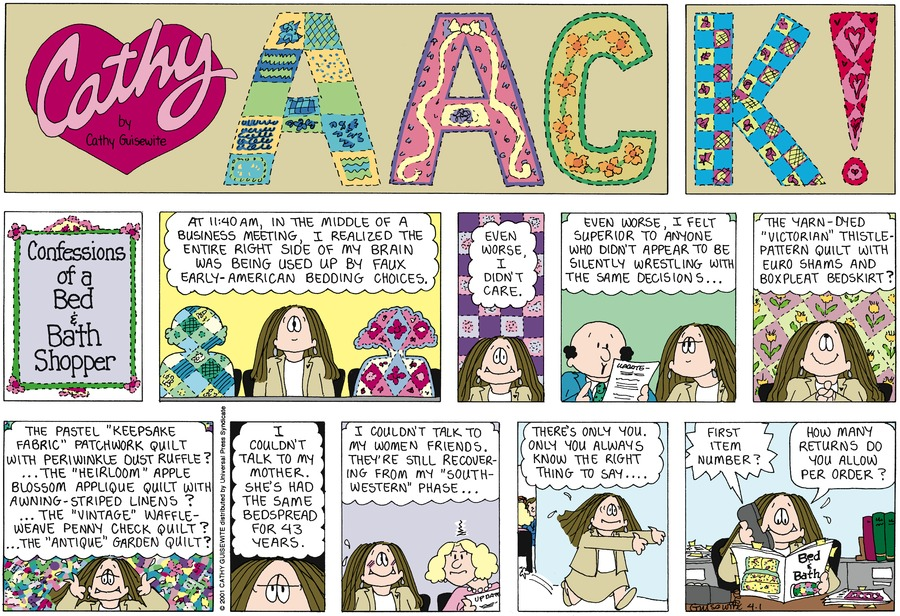 Cathy for Apr 1, 2012 Comic Strip