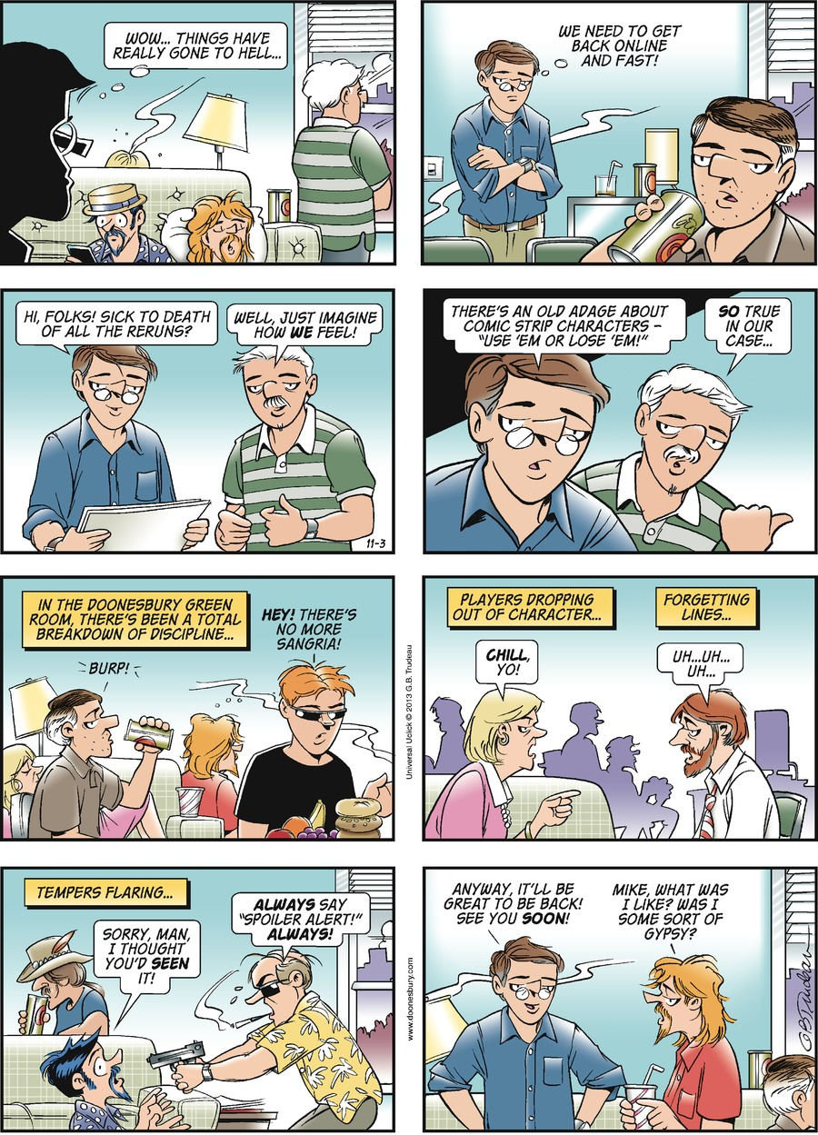 Doonesbury Comic Strip for November 03, 2013