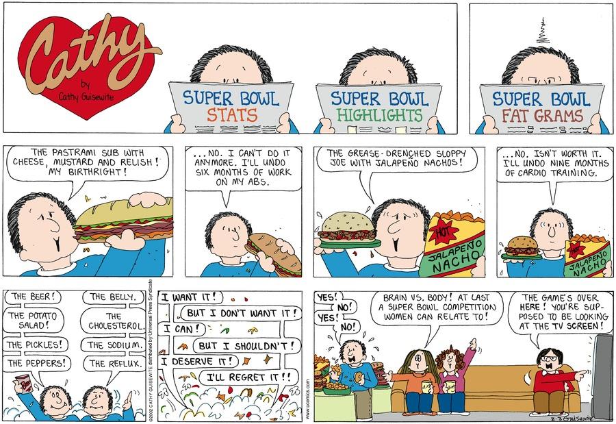 Cathy for Feb 3, 2013 Comic Strip