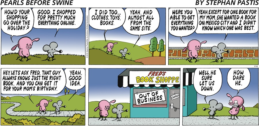 Pearls Before Swine Comic Strip for January 14, 2018