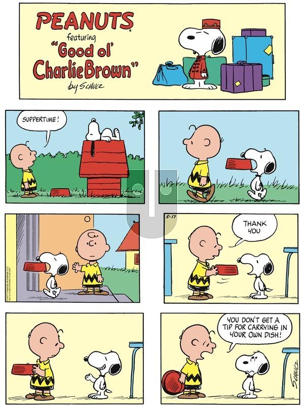 Peanuts on Sunday May 17, 2020 Comic Strip