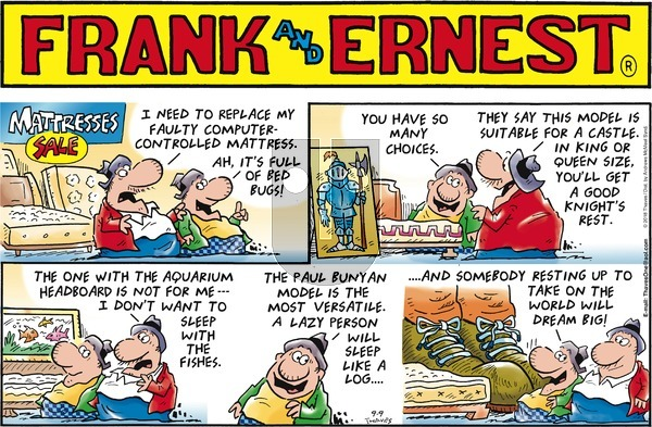 Frank and Ernest on Sunday September 9, 2018 Comic Strip
