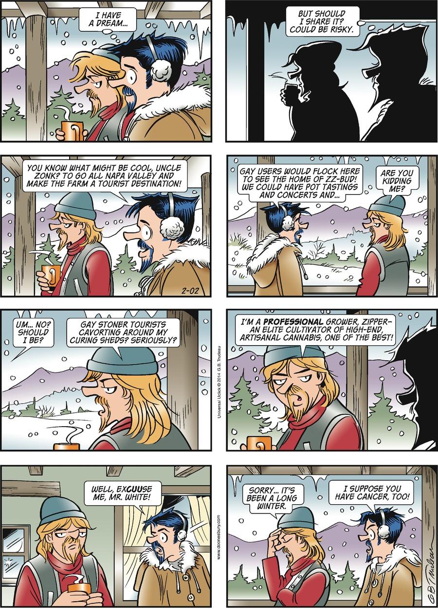 Doonesbury Comic Strip for February 02, 2014