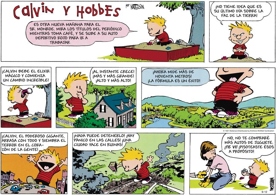 Calvin and Hobbes en Español Comic Strip for September 12, 2021