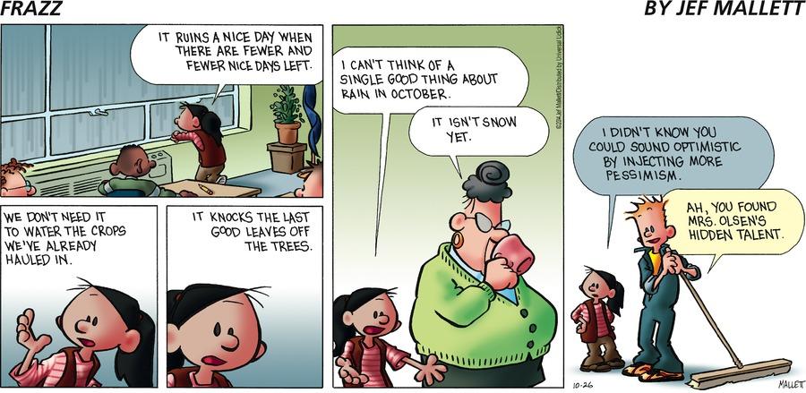Frazz for Oct 26, 2014 Comic Strip