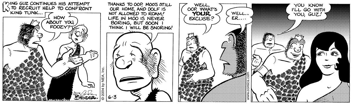 Alley Oop for Jun 3, 2004 Comic Strip