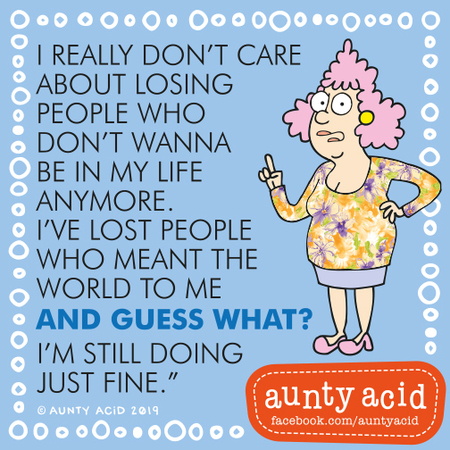 Aunty Acid by Ged Backland for August 18, 2019