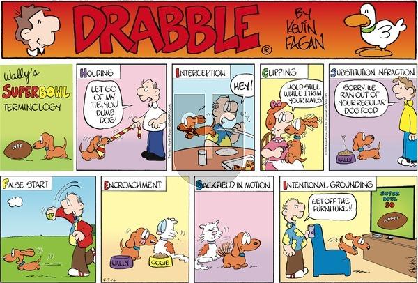 Drabble - Sunday February 7, 2016 Comic Strip