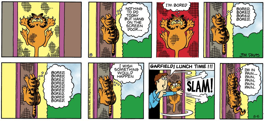 Garfield Classics Comic Strip for August 07, 2016