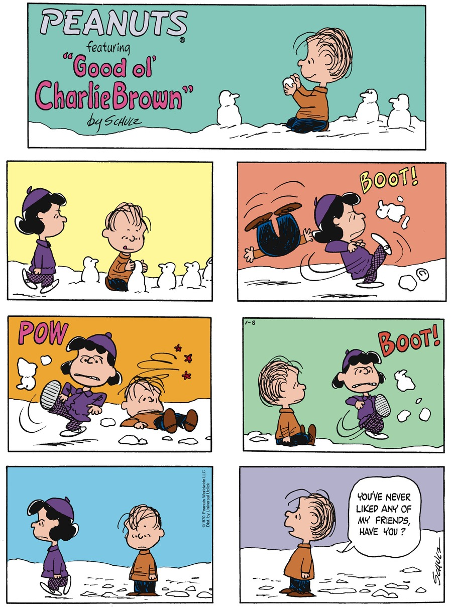 Peanuts Comic Strip for January 08, 2017