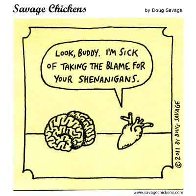 Savage Chickens for Nov 9, 2015 Comic Strip