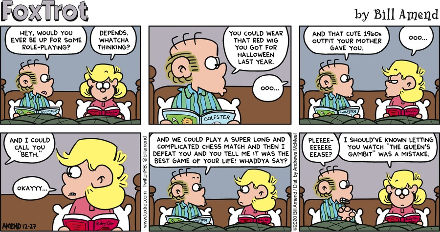FoxTrot by Bill Amend on Sun, 27 Dec 2020