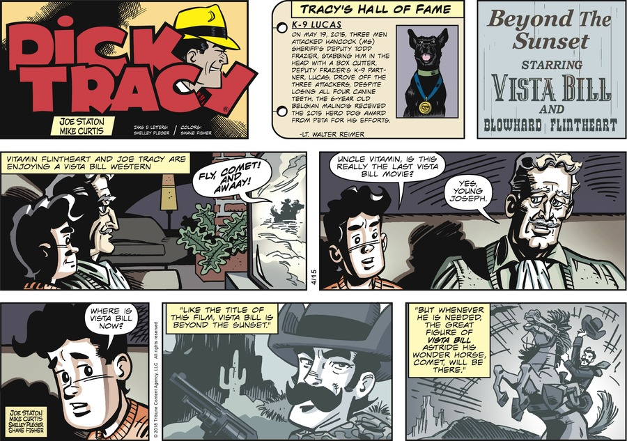 Dick Tracy Comic Strip for April 15, 2018