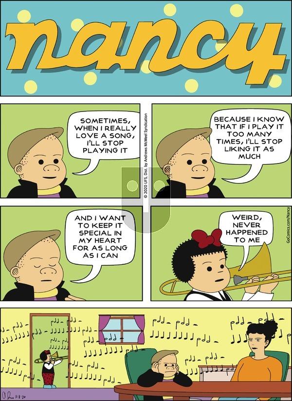 Nancy on Sunday November 8, 2020 Comic Strip