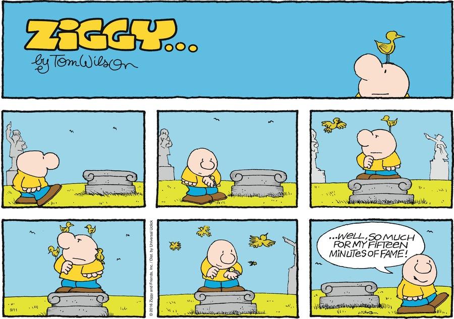 Ziggy for Sep 11, 2016 Comic Strip