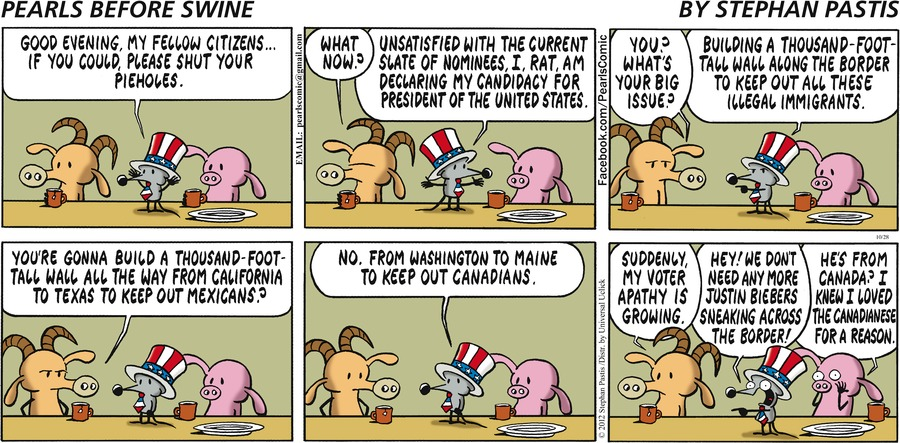 Pearls Before Swine Comic Strip for October 28, 2012
