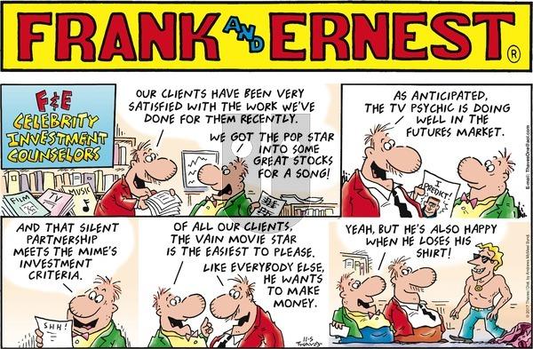 Frank and Ernest on Sunday November 5, 2017 Comic Strip