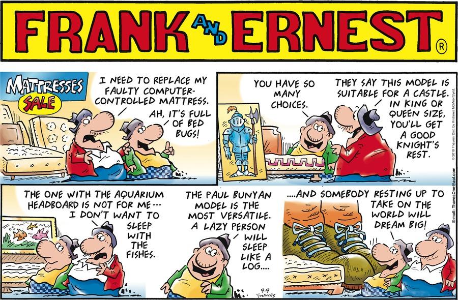 Frank and Ernest Comic Strip for September 09, 2018