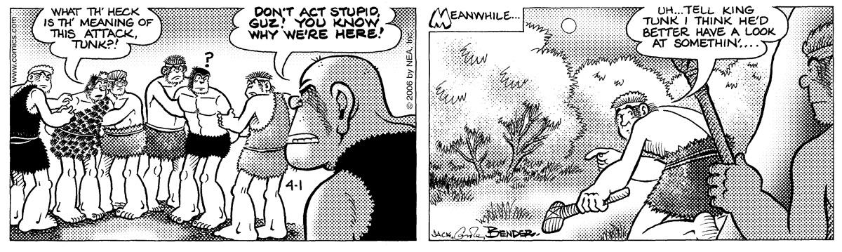 Alley Oop for Apr 1, 2006 Comic Strip