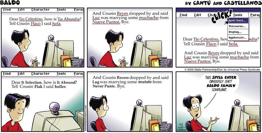 Baldo Comic Strip for July 02, 2000