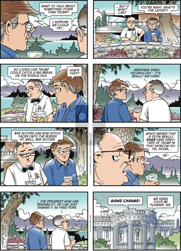 Doonesbury on Sunday July 1, 2018 Comic Strip
