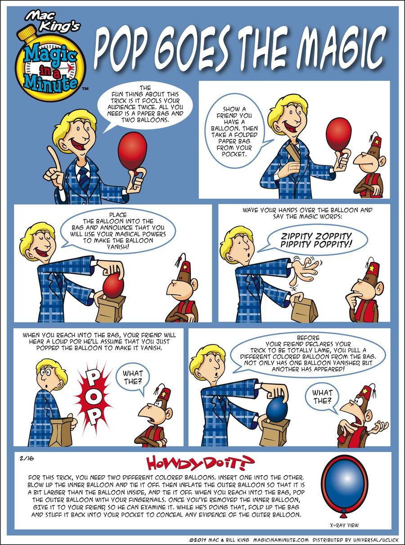 Magic in a Minute for Feb 16, 2014 Comic Strip