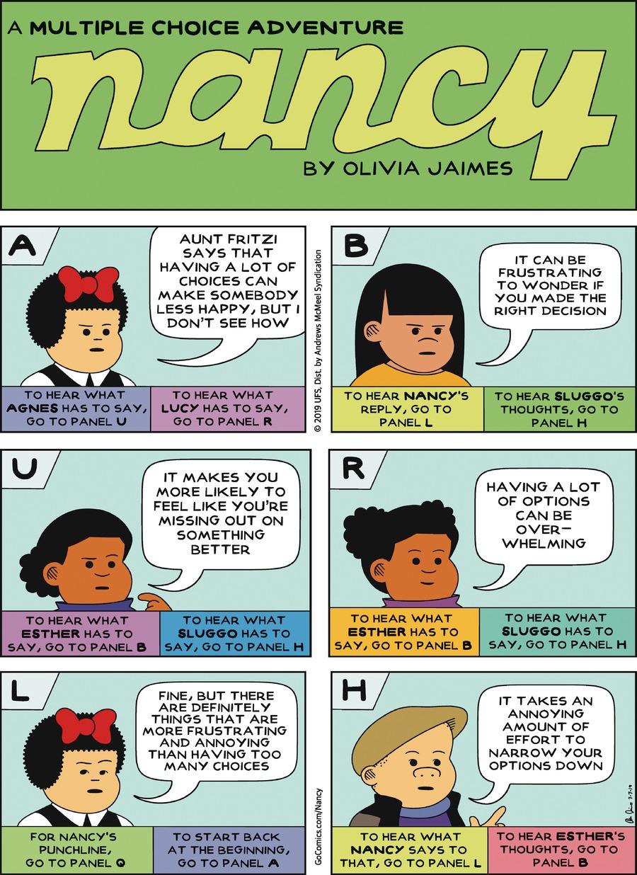 Nancy Comic Strip for July 07, 2019