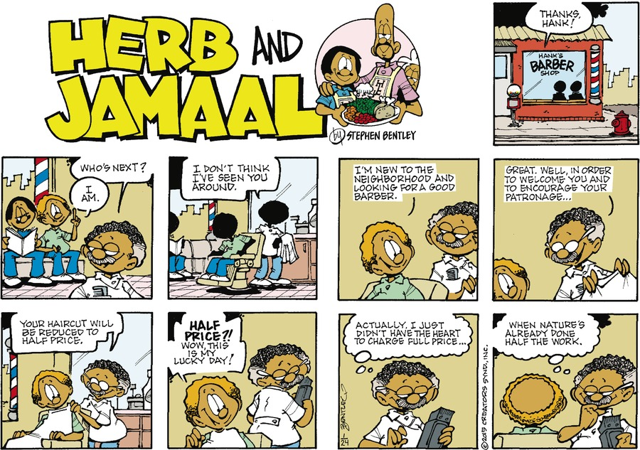 Herb and Jamaal Comic Strip for January 24, 2021