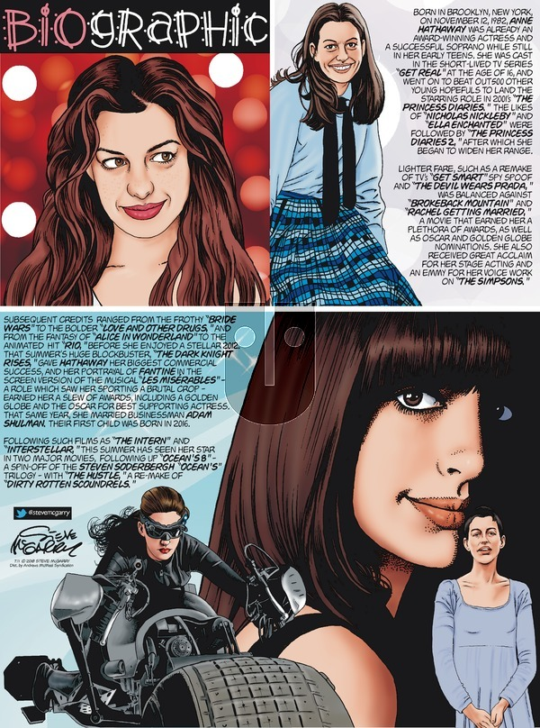Biographic on Sunday July 1, 2018 Comic Strip
