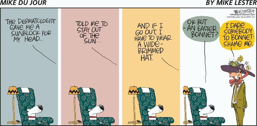 Mike du Jour Comic Strip for April 21, 2019