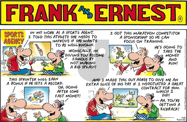 Frank and Ernest on July 22, 2018 Comic Strip