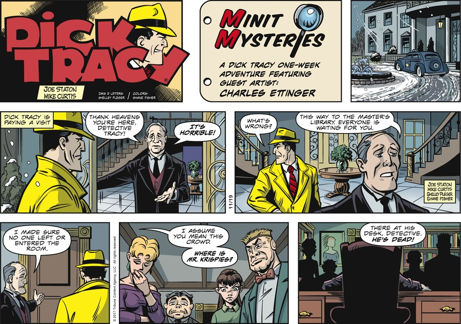Dick Tracy Comic Strip for November 19, 2017
