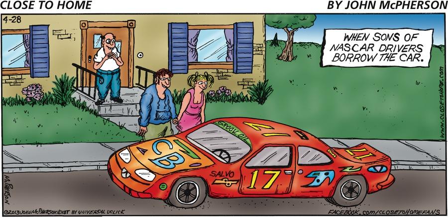 Close to Home for Apr 28, 2013 Comic Strip