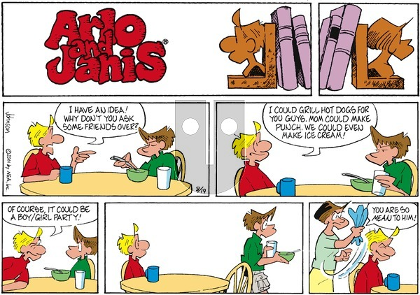 Arlo and Janis on Sunday August 19, 2001 Comic Strip